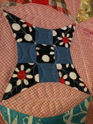 Detail of the quilt block<br /><br />Click on each thumbnail below for a larger image<br /><br />