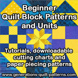 Visit our Beginner Quilt Block Patterns series