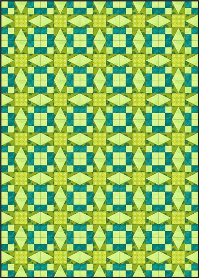 Straight set quilt layout, blocks set edge to edge