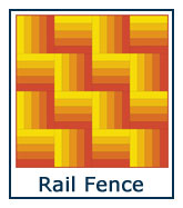 Rail Fence quilt pattern design