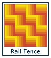 Rail Fence quilt pattern design