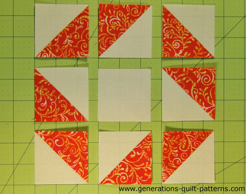 Arrange the units into rows.