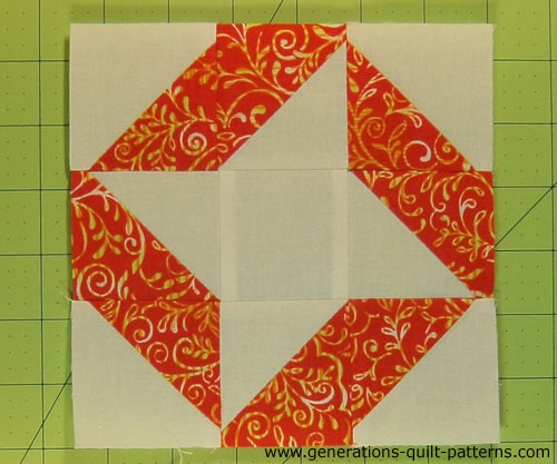 The finished Ribbon Quilt block
