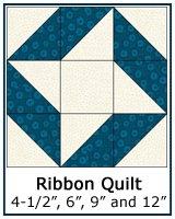 The Ribbon Quilt block