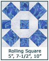 Rolling Square quilt block tutorial