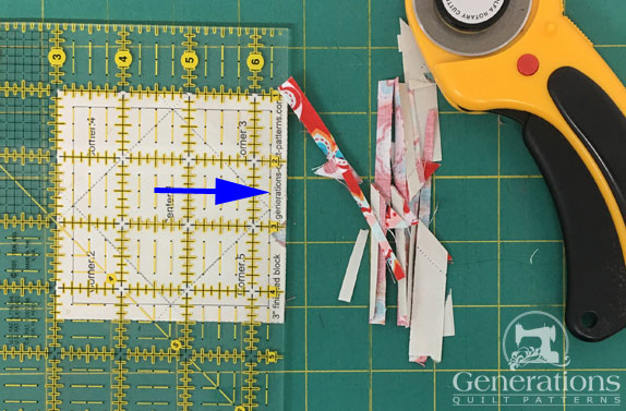 Trimming a paperpieced SiaS
