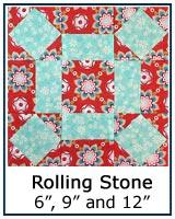 Rolling Stone quilt block tutorial