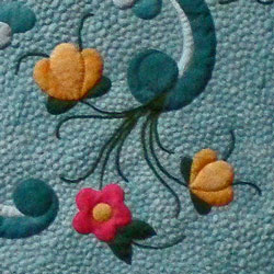 Stem detail from Rogaland Rosemaling