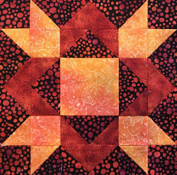 Royal Star quilt block tutorial