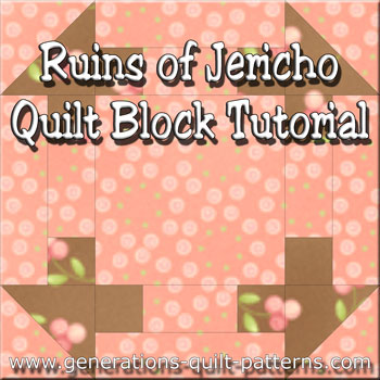 The Ruins of Jericho quilt block tutorial starts here.