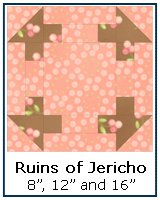 Click here for the Ruins of Jericho quilt block tutorial