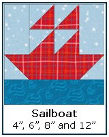 Click here for a traditional Sailboat quilt block tutorial