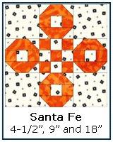 Santa Fe quilt block instructions