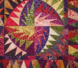 A block in the scrappy quilt