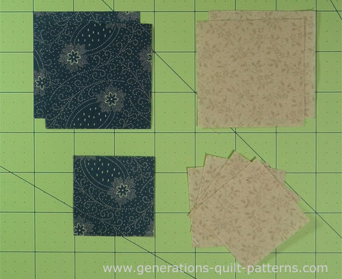 Cut the patches for the Shoofly quilt block
