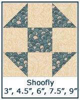 Shoofly quilt block lesson