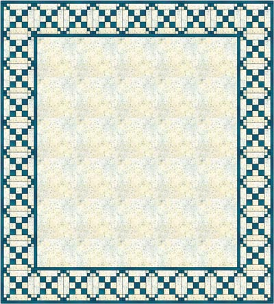 Single Chain and Knot quilt block border, variation 1