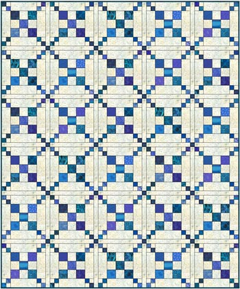 Single Chain and Knot quilt - straight set with sashing