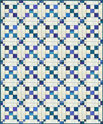 Single Chain and Knot quilt - straight set
