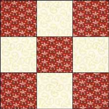 Single Irish Chain Quilt Block 1