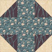 Snowball quilt block design