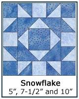 Snowflake quilt block lesson
