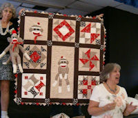 Sock Monkey and Sock Monkey Baby quilt