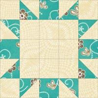 Souvenir quilt block design