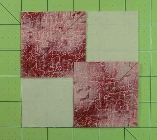 Align the patches in opposite corners