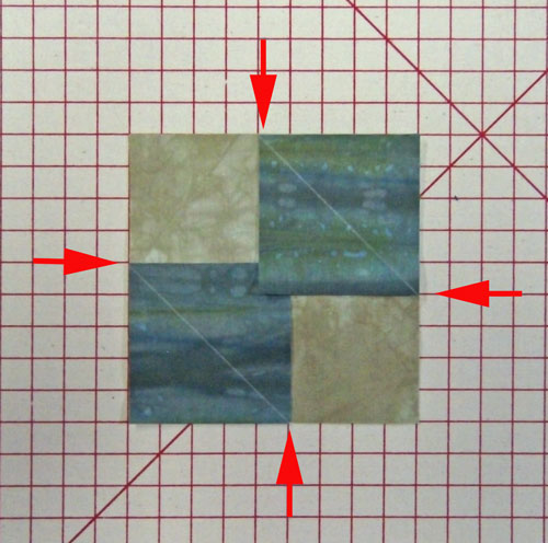 Layer the first two corner patches