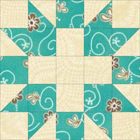 Star and Cross quilt block design
