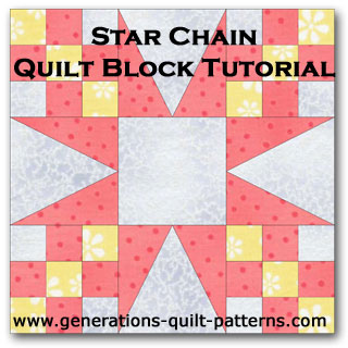 Star chain quilt block tutorial