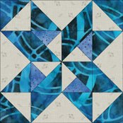 Star and Pinwheels quilt block