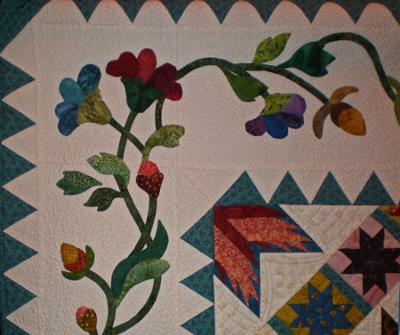 Needleturn applique border - closeup<br /><br />(Click on a thumbnail image below for a larger picture.)<br /><br />