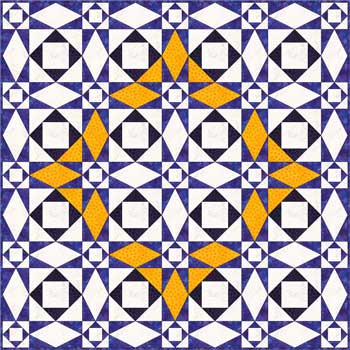 Storm at Sea quilt pattern - diamond