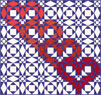 Storm at Sea quilt pattern - interlocking hearts