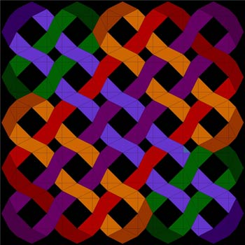 Storm at Sea quilt pattern - intertwining ribbons