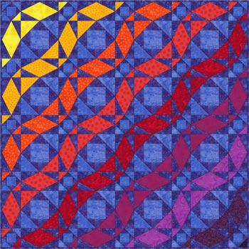 Storm at Sea quilt pattern - ribbons