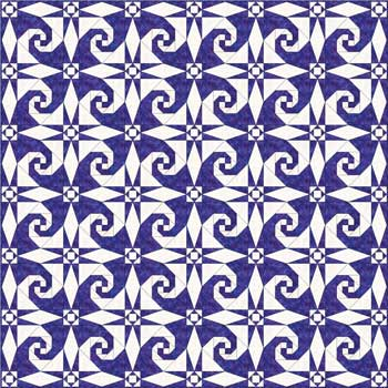 Storm at Sea quilt pattern - with Snail's Trail block