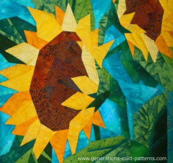 Sunflowers quilt detail