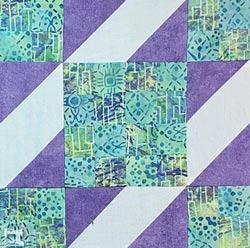 Sunny Lanes quilt block tutorial