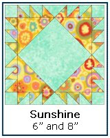 Click here for the Sunshine quilt block tutorial