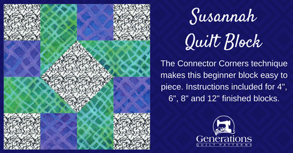 The Susannah quilt block tutorial begins here