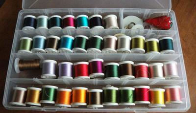My silk thread stash for applique
