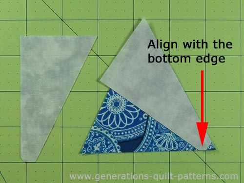 Match the edges of the two triangle shapes