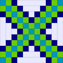 Triple Irish Chain Expanded Quilt Block 1