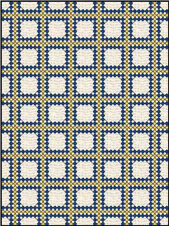 Triple Irish Chain Quilt - 3 fabrics