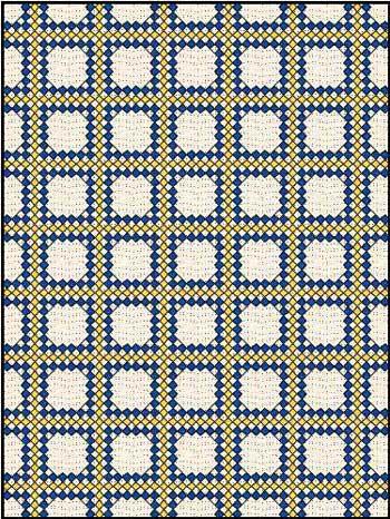 Triple Irish Chain Quilt - 3 fabrics