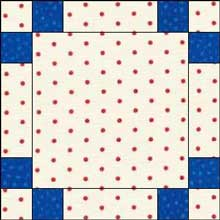 Triple Irish Chain Quilt Block - Checkerboard Variation