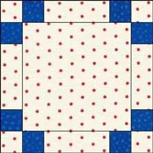 Triple Irish Chain Quilt Block - Checkerboard Variation